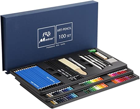 Amazon.com: Madisi Art Kit 100 piezas – 36 lápices de ...