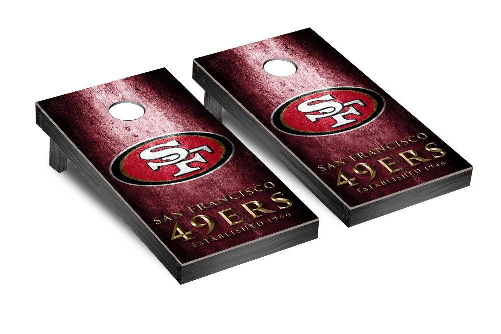 NFL San Francisco 49Ers Museum Version Football Corn hole Game Set, One Size