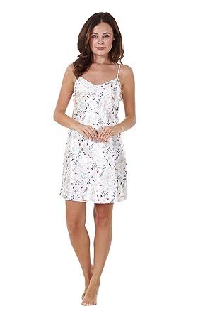 be8feeb102 Ladies 2 PACK Satin Chemise Set Slip Womens Strappy Nightwear ...