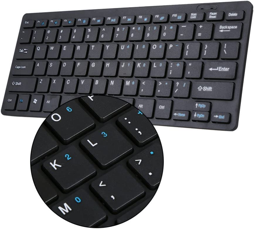 BHGFCGYUH 2.4G Wireless Keyboard and Mouse Kit Keypad Ultra-Slim for Android for PC Laptop Computer Accessories