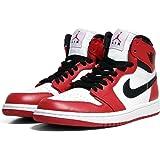 "Nike Mens Air Jordan 1 Retro High ""Chicago"" Leather Basketball Shoes"