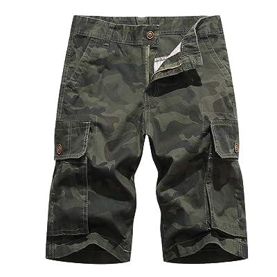 AOYOG Men's Camo Cargo Shorts Multi-Pocket Camouflage Short Casual | Amazon.com