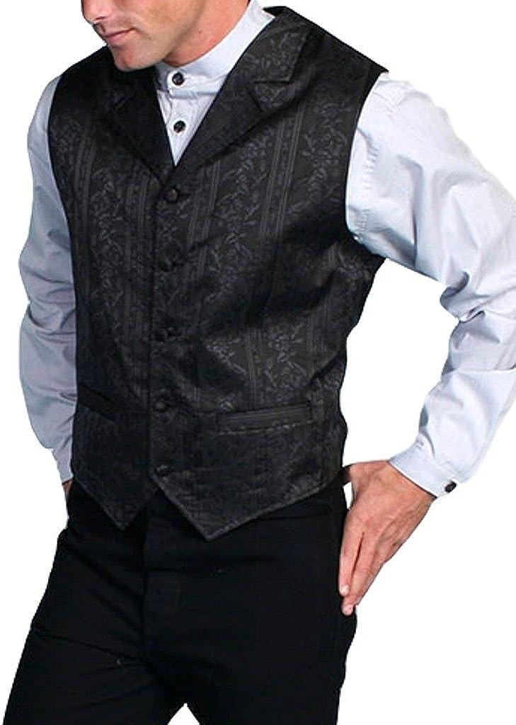 Scully Rangewear Men's Rangewear Eaton Stripe Vest - Rw112 Blk