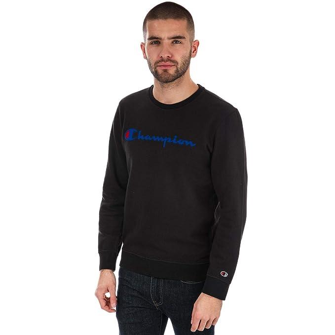 Champion Reverse Weave Crewneck Sweatshirt, Sudadera para Hombre, Negro (Nbk Kk001), Medium: Amazon.es: Ropa y accesorios