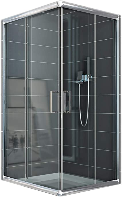 Cabina de ducha rectangular 70 x 100 x 185 (altura) cm, transparente 6 mm: Amazon.es: Bricolaje y herramientas