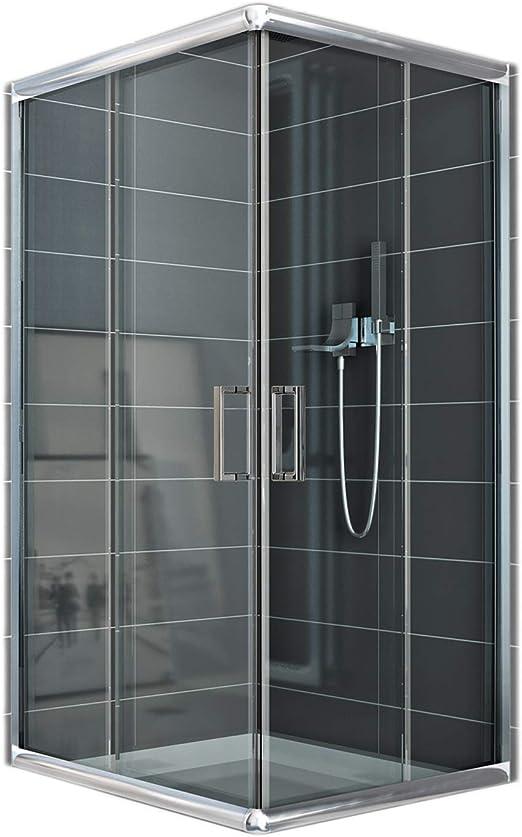 Cabina de ducha rectangular 70 x 100 H 185 transparente 6 mm: Amazon.es: Bricolaje y herramientas