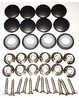 Amazon Com Set Of 12 Prong Back Upholstery Buttons Black Vinyl 22