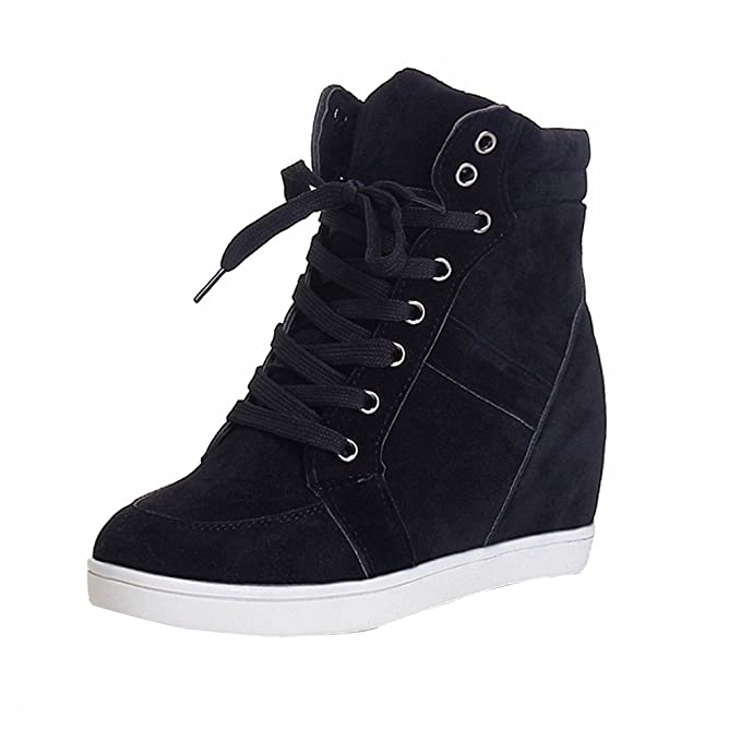 c09b6f0bdcd Amazon.com: Gyoume Winter Ankle Boots Women Lace up Boots Shoes ...