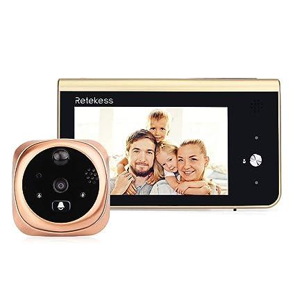 """Retekess T13D Mirilla Digital de Puerta 720p HD Pantalla 4.3"""" VideoporteroVisión Nocturna PIR Detección de"""