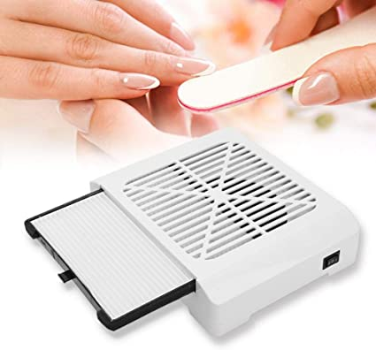 Aspirador de uñas de mesa profesional 36 W, colector de polvo para uñas aspirador para uñas máquina de limpieza para el arte de las uñas, cómodo e ideal para salones ...