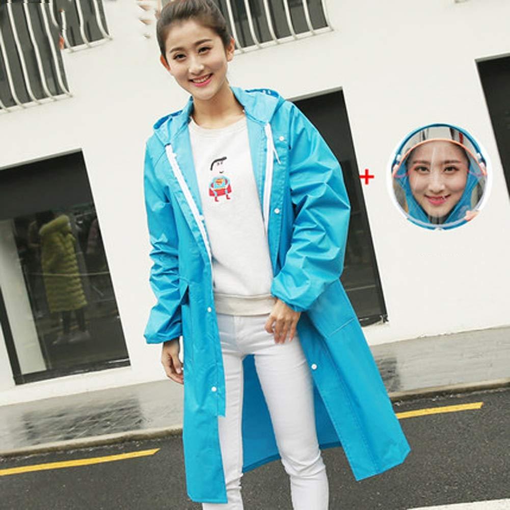 F XXXL Raincoat Adult Hiking Korean Fashion Men's Rainproof Windbreaker Long Jacket Long Outdoor Travel Raincoat Size S,M,L,XL,XXL,XXXL,XXXXL ZXMDMZ (color   G, Size   XXXXL)