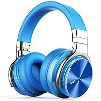 Cowin E7 PRO Active Noise Cancelling Bluetooth Kopfhörer mit Mikrofon Hi-Fi Deep Bass Wireless Kopfhörer über Ohr 30H Spielzeit für Reisen Arbeit TV Computer Telefon(Blau)