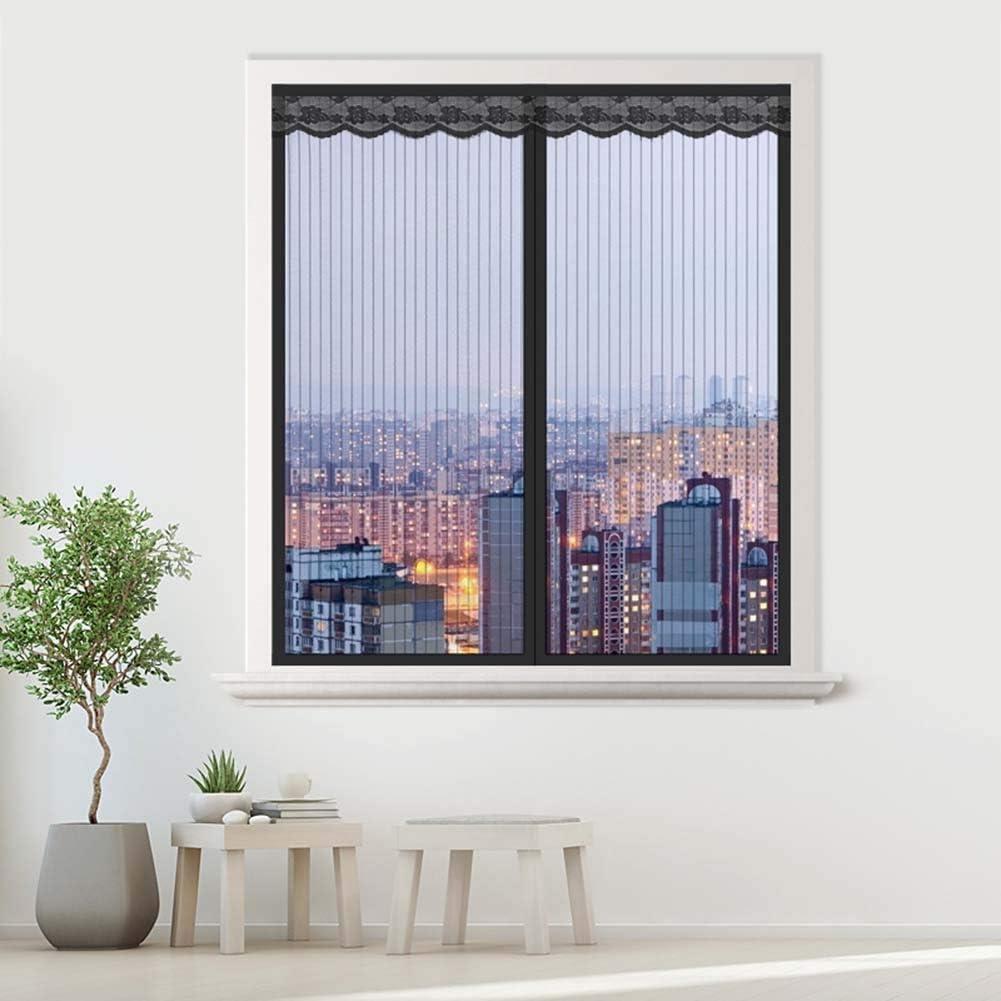 velcro s/úper silencioso negro fibra de vidrio marco completo 120x120cm Unilife mosquitera para m/últiples ventanas Mosquitera magn/ética para ventana 47x47inch