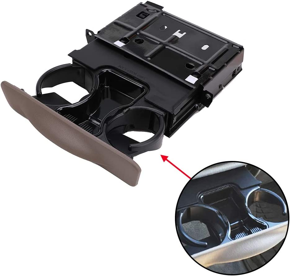 YC3Z-2513560-CAB Dash Cup Holder Compatible with Ford F250 F350 F450 F550 Super Duty 1999 2000 2001 2002 2003 2004, Excursion 2000 2001 2002 2003 2004 Color Tan - Console Cup Holder
