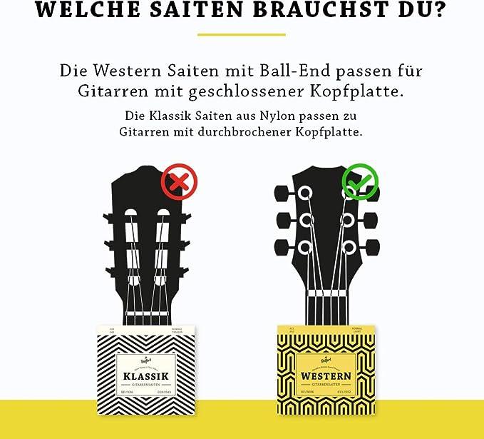 Belfort Guitarra Cuerdas – PREMIUM Cuerdas para guitarra clásica y ...