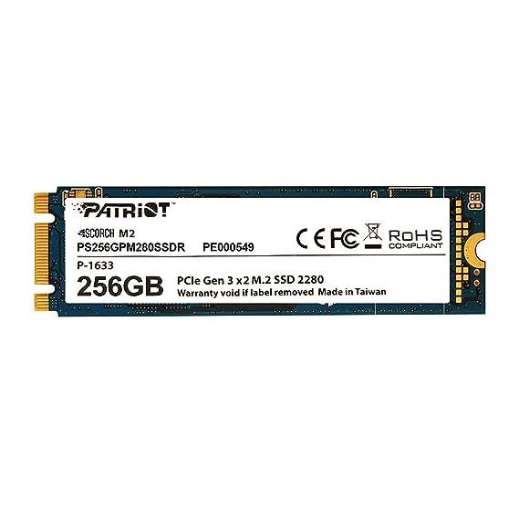 Patriot SSD 256GB SCORCH M.2 2280 PCIe Gen.3 x 2 (NVMe 1.2) パトリオットメモリ PS256GPM280SSDR