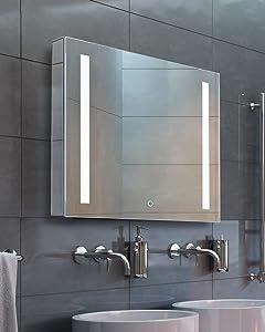 Bathroom Medicine Cabinet, Aluminum, Recessed/Surface Mount, 24