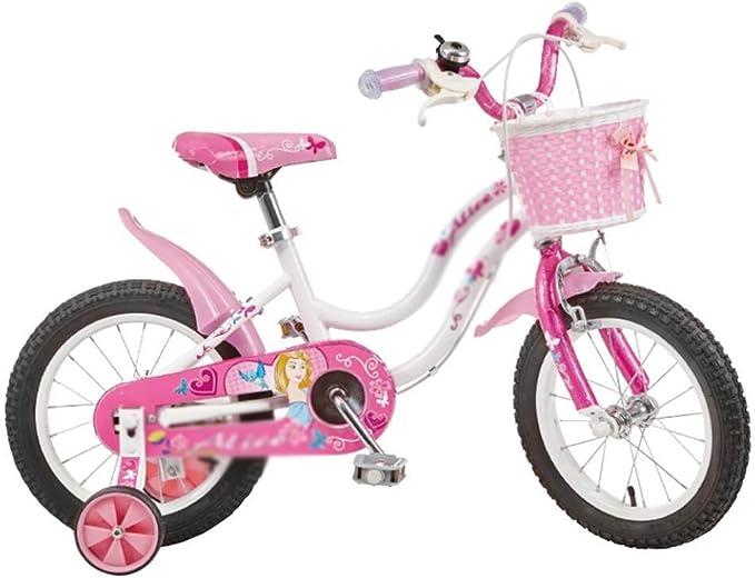 KXBYMX Bicicleta Infantil Bicicleta de niña Rosa Sirena tamaño 12 ...