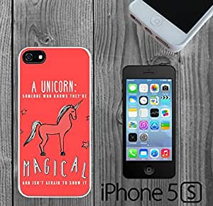 Awesome Unicorn Quote Custom made Case/Cover/skin FOR iPhone 5/5s - White - Rubber Case