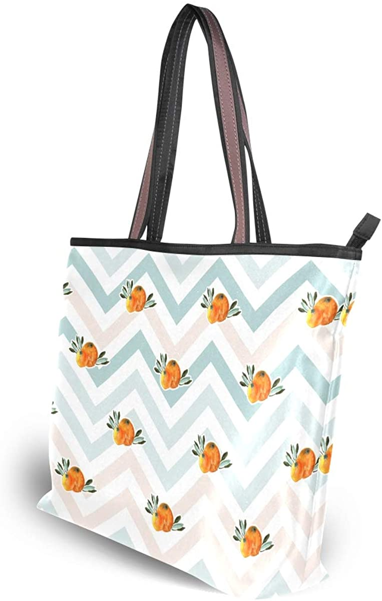 Stylish Orange Citrus Women/'s Tote Bag Handbags Shoulder Bag for Gym Travel Picnic Beach