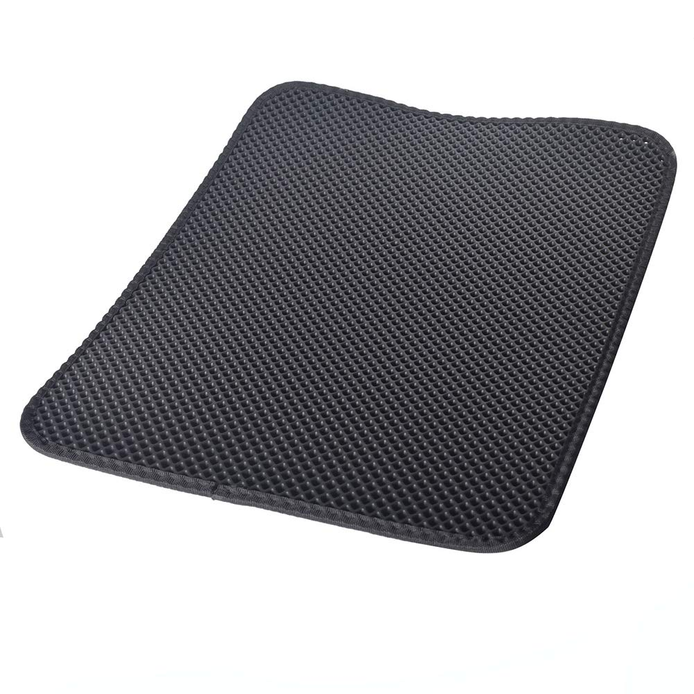 L Sandpit Cat Mat, Cat Sand Mat Rug Design Double Layer Trivet for Honeycomb Surface Easy to Clean Soft Waterproof for Pets Natural Non Toxic for Catwpw,L