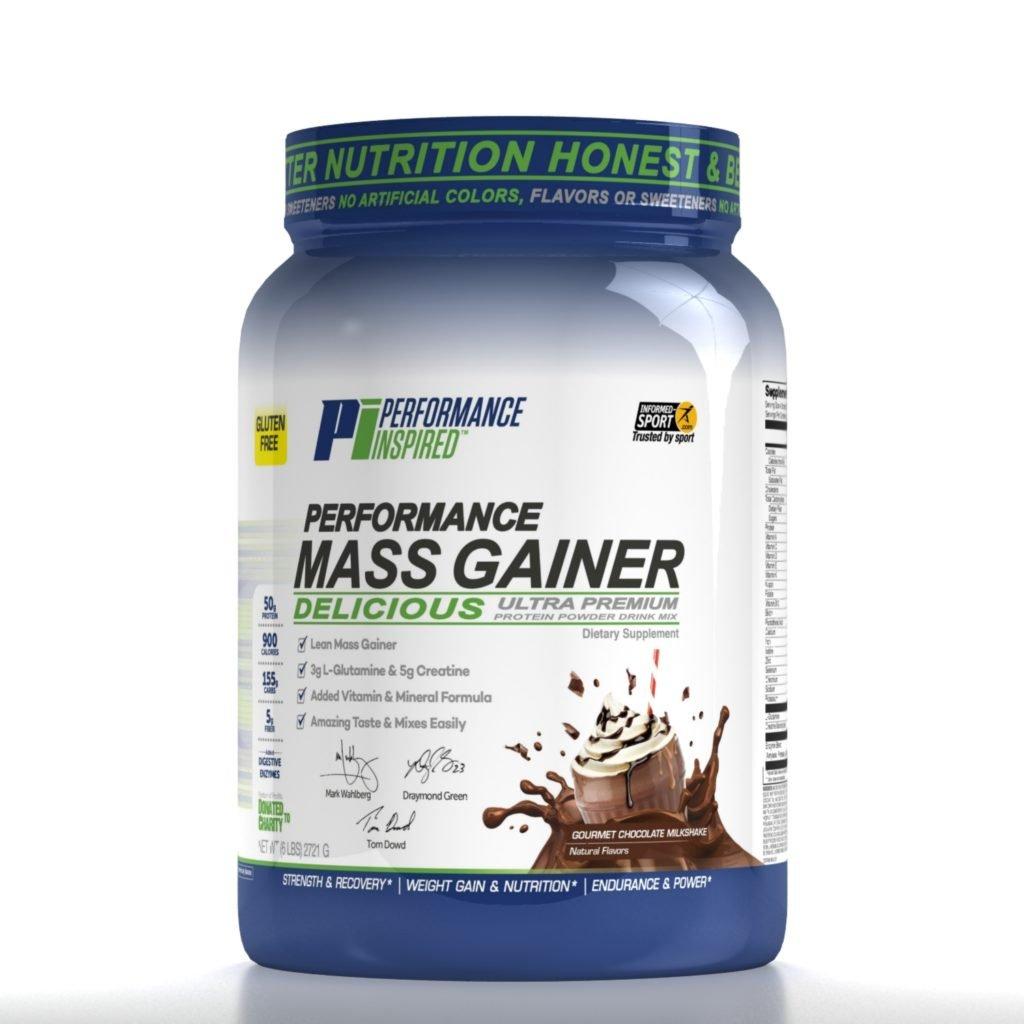 Performance Inspired Nutrition Mass Gainer, Gourmet Chocolate Milkshake, 6 Pound