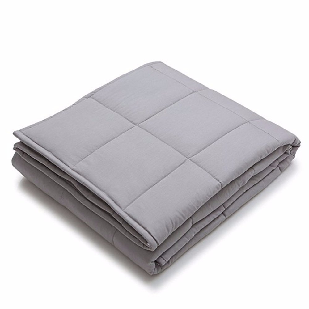 Weighted Blanket by MEILIANJIA Improve Sleep Deep Sleep Naturally Reduce Stress and Increase Relaxation for Sensory Processing Disorder ADHD/Autism/OCD(60''x80'', 15 lbs),Weighted Inner Layer-Light Grey