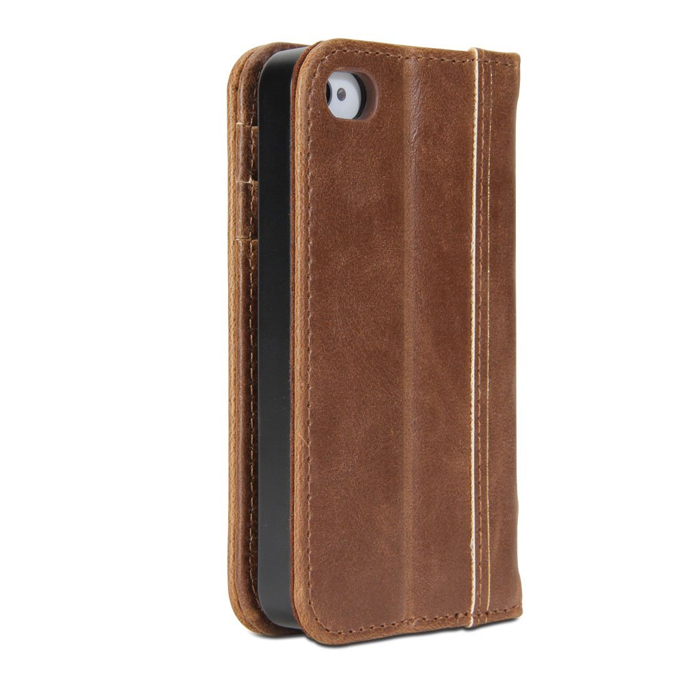 021eb96bfb GMYLE Book Case Vintage for Apple iPhone 4 4S - Brown Classic [Crazy Horse  Pattern] [PU Leather] Book Style Flip Folio Case Cover: Amazon.ca: Cell  Phones & ...