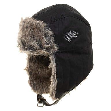 c3bbdcf8cdb Amazon.com  Game of Thrones Faux Fur Trapper Hat Black  Clothing