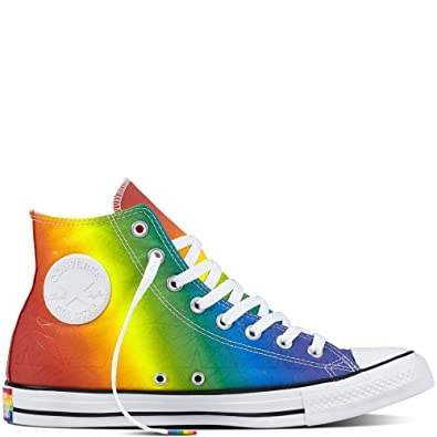 d5be4ff1dc49 Converse Women s 157374C Trainers Multicolour Pride Geostars Rainbow Multi  White Black Multicolour Size  3.5 UK  Amazon.co.uk  Shoes   Bags