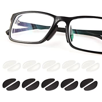 62bff45374c0 1mm Eyeglass Nose Pads Glasses Adhesive Silicone Nose Pads 10Pairs  Anti-Slip Eyeglasses Nosepads Non