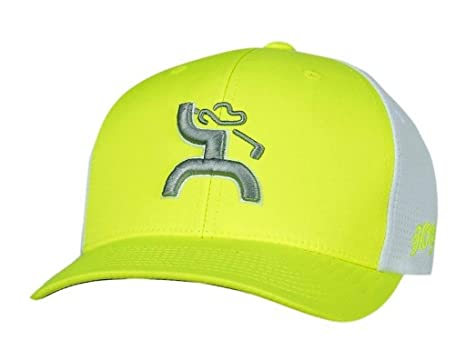 Hooey Hat  Trap  Golf Hat-Neon Green White FlexFit at Amazon Men s ... 6c7cb36fa8a