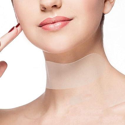 1 tiras de silicona para eliminar arrugas y cuello, parches antiarrugas, tratamiento antienvejecimiento y
