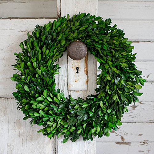 (Preserved Boxwood Garden Wreath - 14 Inch)