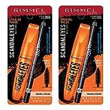 Rimmel scandaleyes mascara with scandaleyes waterproof kohl kajal liner, extreme black, pack of 2, 0.40 Fl Oz: more info