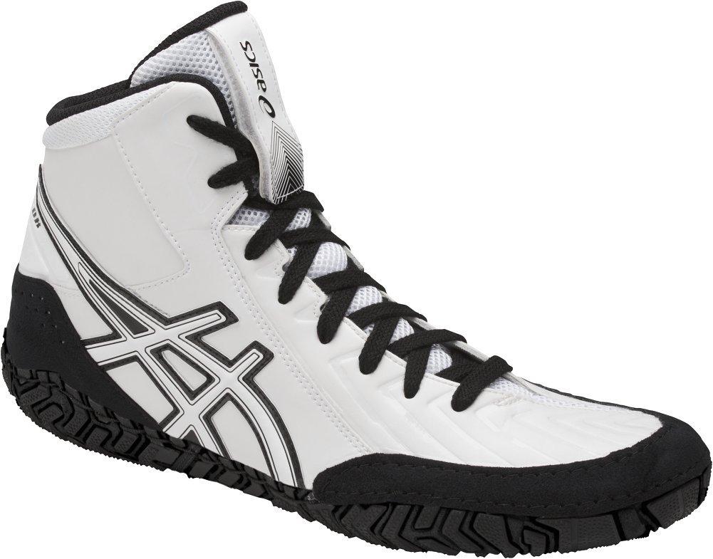 ASICS Men's Aggressor 3 Wrestling-Shoes, White/White/Black, 11.5 Medium US by ASICS