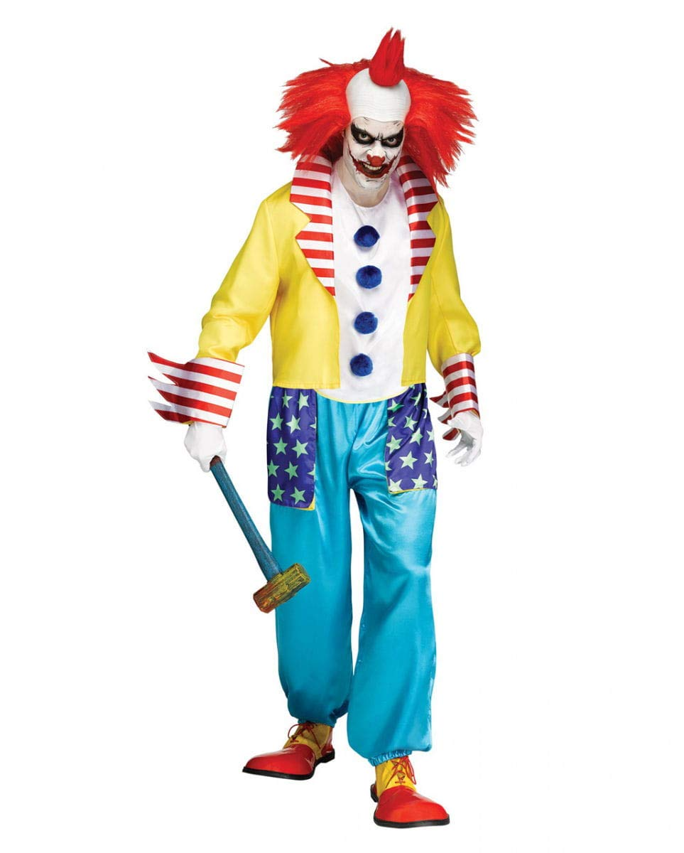 Buntes Horror Clown Kostüm One Größe