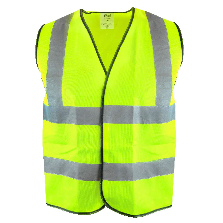 Hi Vis High Viz Visibility Vest Orange Yellow Safety Jacket Waistcoat EN471 New
