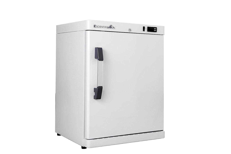 K2 Scientific 4 cu. ft. Laboratory Undercounter Freestanding Solid Door Refrigerator