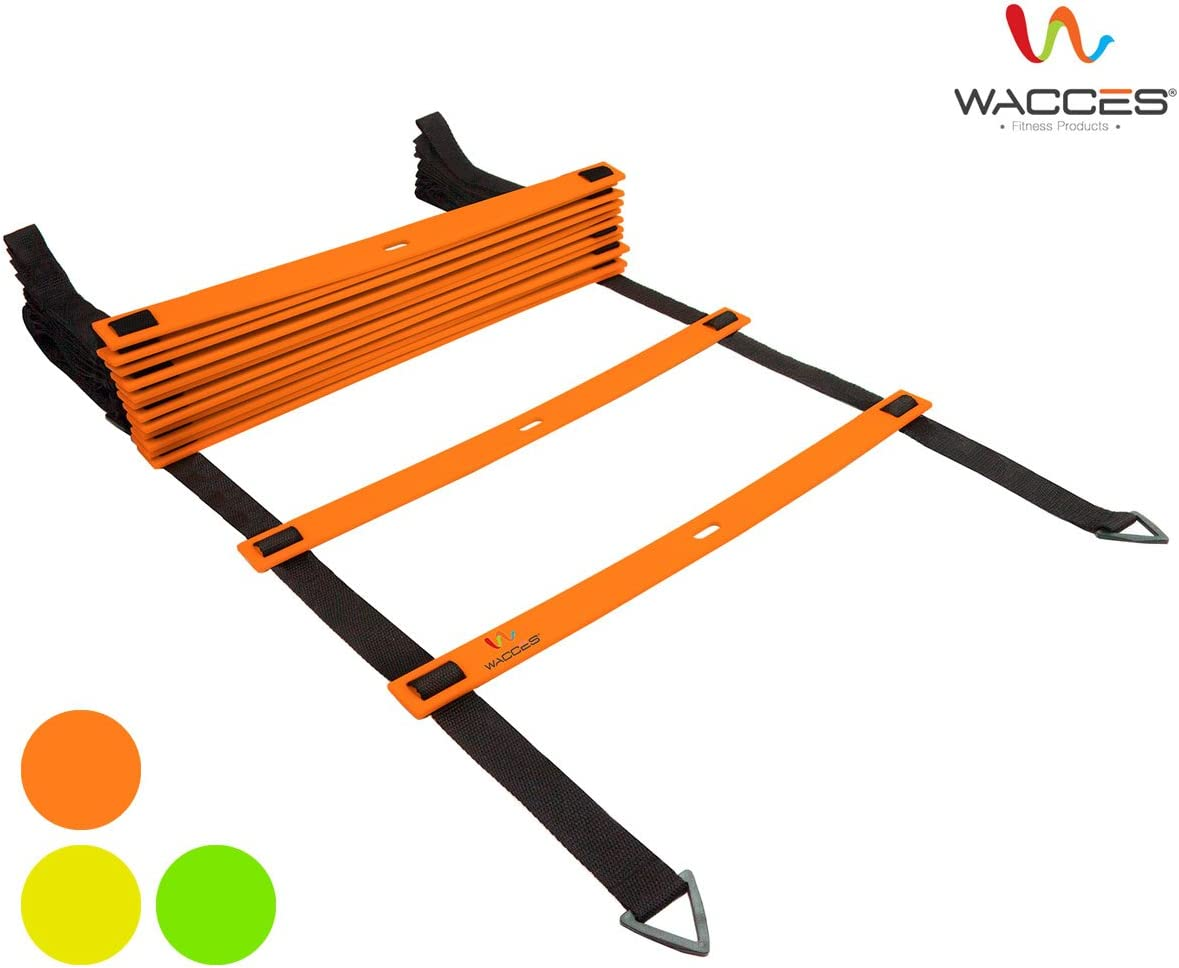 Wacces Adjustable Agility Ladder for Soccer, Speed, Football, Fitness with Carry Bag