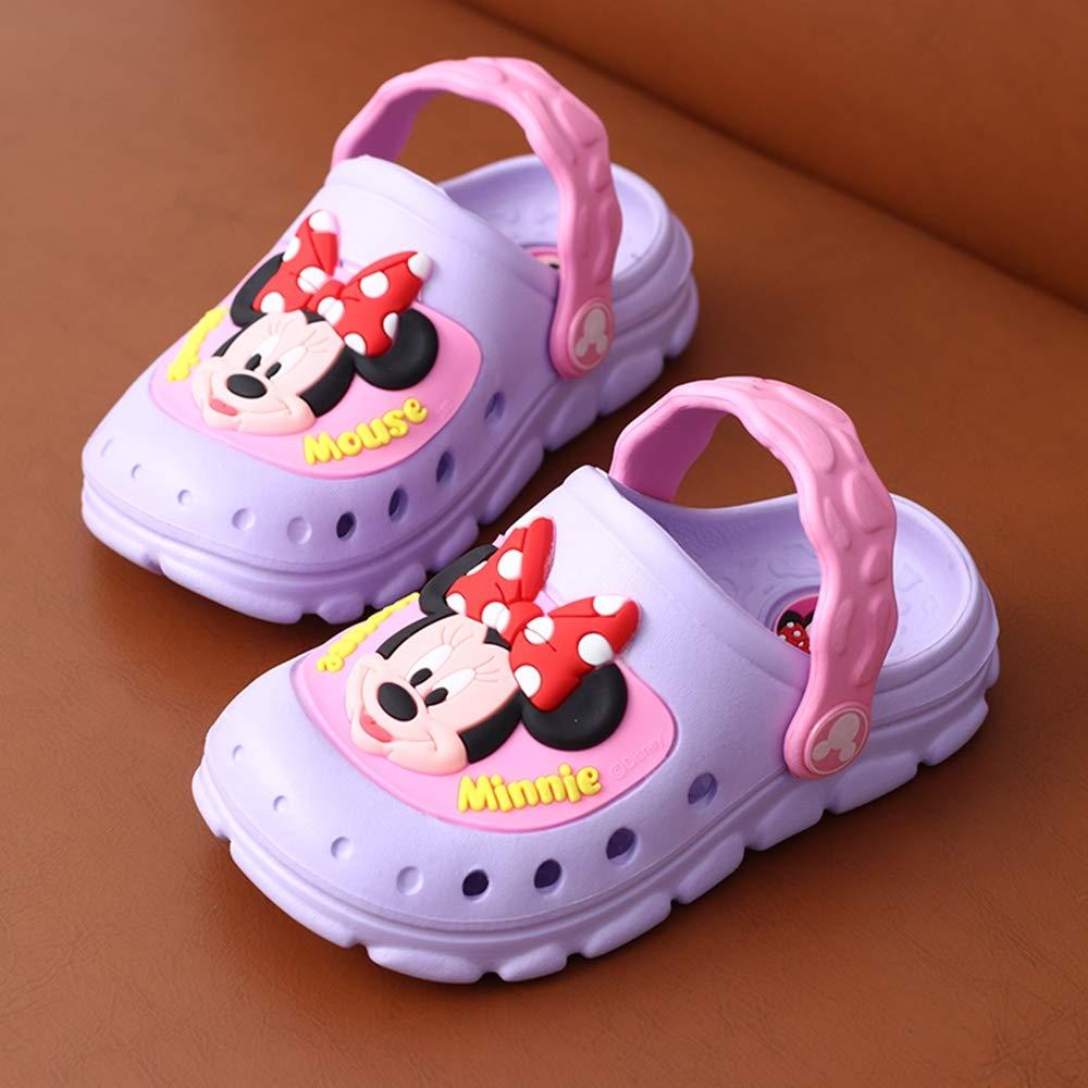 ROKIDS Kids Disney Mickey Minnie Clogs Garden Shoes Dual-use Sandals