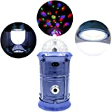 7TECH 3-in-1 Rechargeable Collapsible LED Camping Lantern Ultra Bright Portable Hand-held Flashlight Spinning Stage Emergency Lantern with USB Port (Gold or Blue)