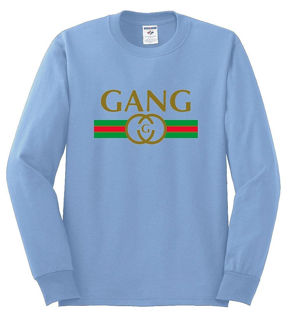 8c096067f5b2 Amazon.com: Wild Bobby Gang Logo Parody | Mens Fashion Long Sleeve T-Shirt:  Clothing