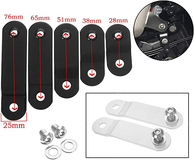 TOOGOO 1-3 Inch Motorcycle Gas Tank Lift Kits Fit for Harley Sportster XL 883 1200 48 72 Dyna Raise Tank Lift Modified Risers(28Mm)