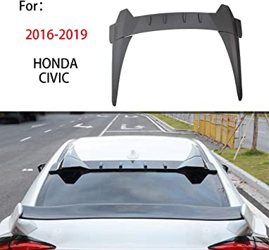 For 10th Honda CIVIC 2016 2017 2018 Sedan R Style Rear Roof Spoiler Visor