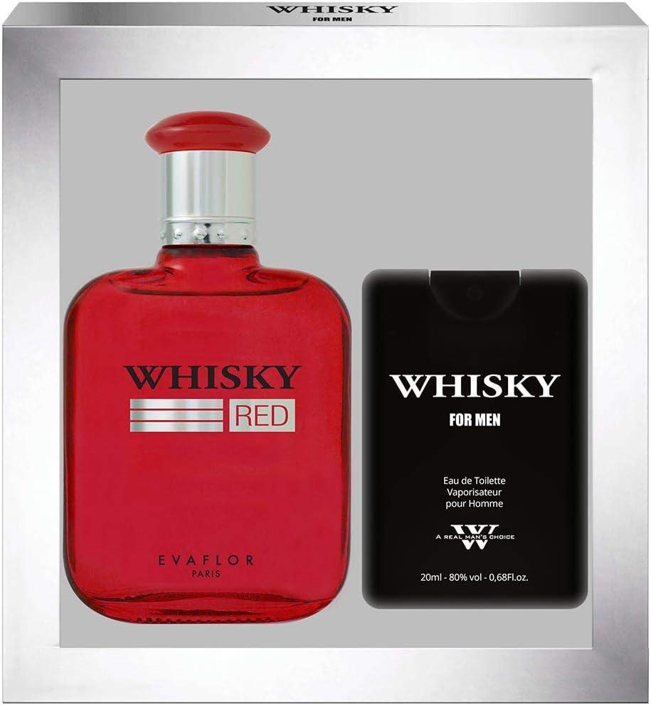 EvaflorParis Whisky Red - Estuche de regalo de Eau de Toilette 100 ml + perfume de viaje vaporizador para hombre 20 ml: Amazon.es: Belleza