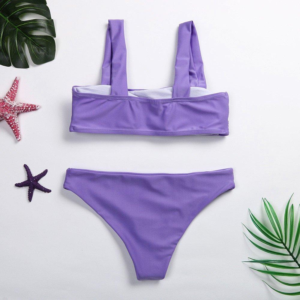 Mujer Conjunto De Bikini De Croché Estampado Espalda Abierta de ...