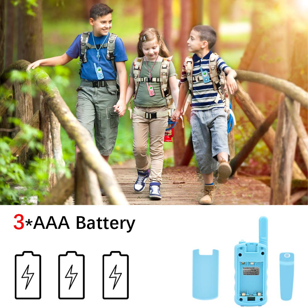 Walkie talkies for Kids - 4-Mile Range Kids walkie talkies with 22 FRS/GMRS Channels, Childrens Toys with BPA-Free ABS eco-Friendly Materials, Great Gift for 3-12 Year Old Boys and Girls,Teen Gift by weird tails (Image #4)