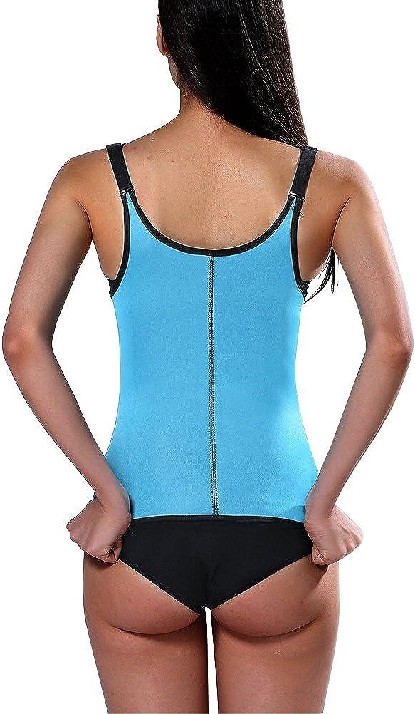 HAMACTIV Womens Sweat Weight Loss Zipper Tank Tops Vest