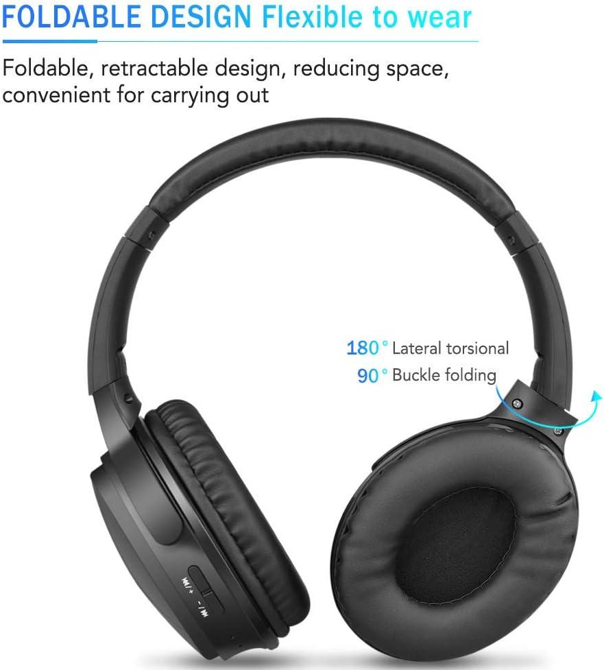 CHQ Auriculares Inalámbricos Plegables Auriculares Bluetooth Música Deportes Enchufar Auriculares Inalámbricos Negro Plegables: Amazon.es: Electrónica